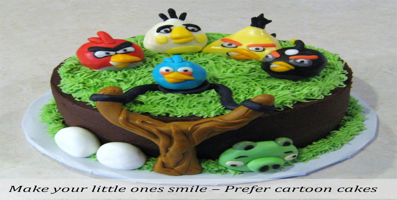 Make your little ones smile – Prefer cartoon cakes