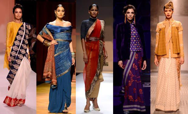 Interesting saree draping styles straight off the ramp!